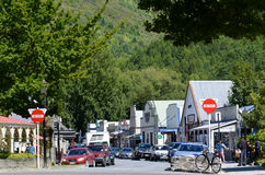 Arrowtown - New Zealand. ARROWTOWN,NZ - JAN 17:Arrowtown on Jan 17 2014.It's a popular travel destination with well preserved buildings used by European and royalty free stock images