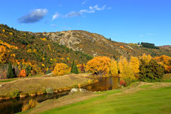 Arrowtown in South Island New Zealand. Royalty Free Stock Photography