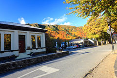 Arrowtown in South Island New Zealand. stock images