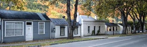 Arrowtown stugor, Otago, Nya Zeeland Royaltyfri Bild