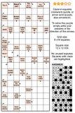Arrowword线索在正方形, scanword纵横填字游戏 向量例证