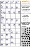 Arrowword aanwijzing-in-vierkanten, scanword kruiswoordraadsel vector illustratie