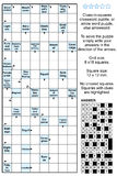 Arrowword (clues-in-squares) crossword puzzle Stock Images