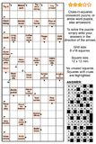 Arrowword clues-in-squares, scanword crossword puzzle Royalty Free Stock Photo