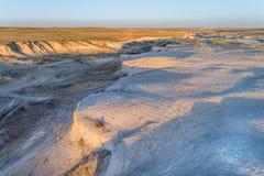 Arroyo in de noordelijke prairie van Colorado Stock Afbeeldingen