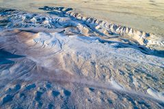 Arroyo in de noordelijke prairie van Colorado Royalty-vrije Stock Fotografie