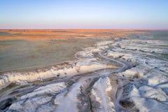 Arroyo in de noordelijke prairie van Colorado Stock Fotografie