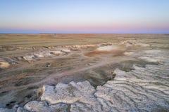 Arroyo in de noordelijke prairie van Colorado Royalty-vrije Stock Afbeelding