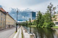 Arroyo en la ciudad de Goteburgo imagen de archivo libre de regalías