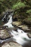 Arroyo que fluye de la cascada Fotos de archivo
