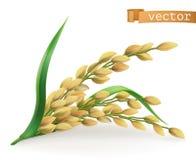 arroz ícone do vetor 3d ilustração do vetor