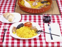 Arroz al Horno – Oven cooked rice menu Stock Images
