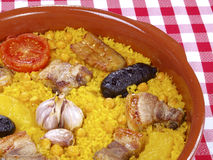 Arroz Al Horno â Ofen gekochter Reis lizenzfreies stockbild