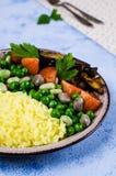 Arroz amarillo con las verduras Fotografía de archivo libre de regalías