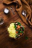 Arroz amarillo con las verduras Imagen de archivo
