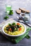 Arroz amarillo con las verduras Foto de archivo libre de regalías