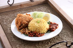Arroz asiático del pollo frito Fotos de archivo