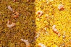 Arroz a Banda dish with partially on sun Stock Photo