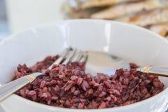 Arroz-burry quente com o outro alimento Imagem de Stock Royalty Free