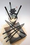 Arroz, chopsticks Imagem de Stock