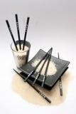 Arroz, chopsticks Imagem de Stock Royalty Free