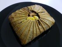 Arroz cocido al vapor chino con Lotus Leaf Imagen de archivo libre de regalías