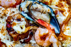 Arroz cocido de los mariscos Fotos de archivo libres de regalías