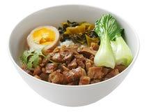 Arroz cocido del cerdo, cocina taiwanesa Imagen de archivo libre de regalías