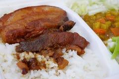 Arroz cocido taiwanés del cerdo Imágenes de archivo libres de regalías