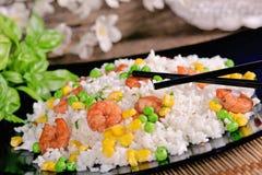 Arroz com camarão Fotos de Stock