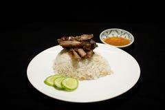 Arroz com carne de porco Fotografia de Stock Royalty Free