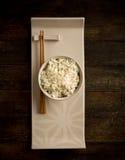 Arroz com chopstick asiático imagens de stock royalty free