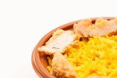 Arroz com galinha Fotografia de Stock Royalty Free