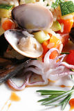 Arroz com sea-food Fotos de Stock Royalty Free