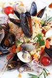 Arroz com sea-food Imagens de Stock