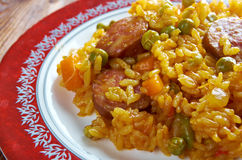 Arroz con chorizo Stock Photos