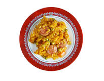 Arroz con chorizo Stock Photo