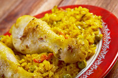 Arroz con Pollo Stock Image