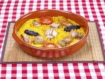 Arroz cozinhado forno do â de Horno do al de Arroz fotos de stock royalty free
