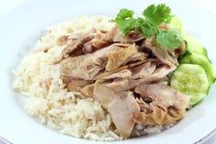Arroz da galinha de Hainanese Imagem de Stock