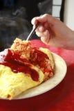 Arroz da omeleta Fotos de Stock