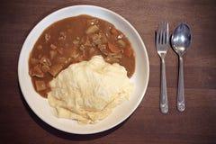 Arroz de curry japonés Fotografía de archivo libre de regalías