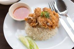 Arroz de Hainanese Fried Chicken Foto de Stock Royalty Free