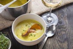 Arroz de marisco portugese paella θερινό πιάτο ρυζιού θαλασσινών αγροτικό Στοκ φωτογραφίες με δικαίωμα ελεύθερης χρήσης