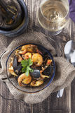 Arroz de marisco portugese paella seafood rustic rice summer dish Stock Images