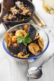 Arroz de marisco portugese paella seafood rustic rice summer dish Stock Photography