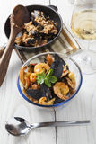Arroz de marisco portugese paella seafood rustic rice summer dish Stock Image
