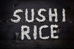 Arroz de sushi de la palabra Imagenes de archivo