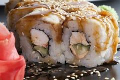 Arroz de sushi japonés Fotos de archivo