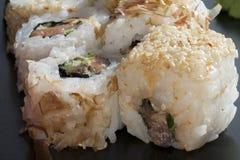 Arroz de sushi japonés Fotografía de archivo